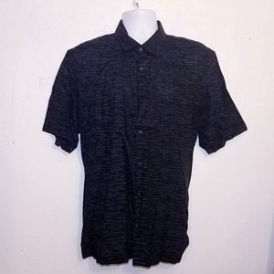 #1099 Alfani Mens Short Sleeves Dress Shirt xl